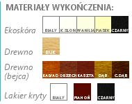 Oprawy palet do podawania złota i srebra drewniane i skórzane
