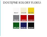 Kolory standardowych palet flokowanych